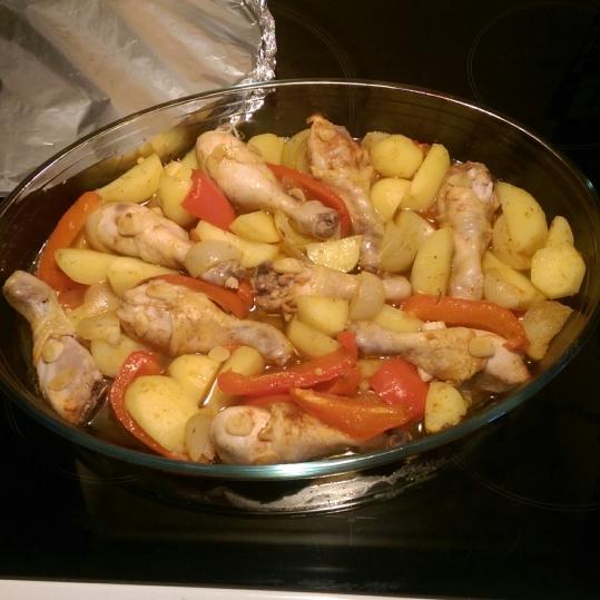 Cele mai fragede Copănele de pui cu legume la cuptor