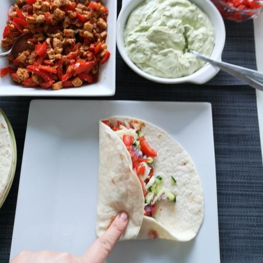 Tacos cu piept de pui