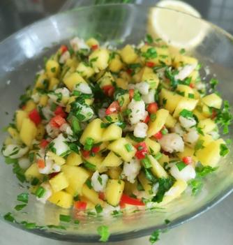 Salata de creveti si mango